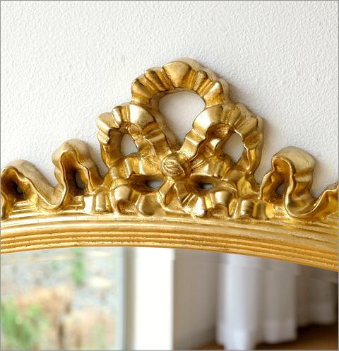 ゴールドリボンのオーバルミラー(2)