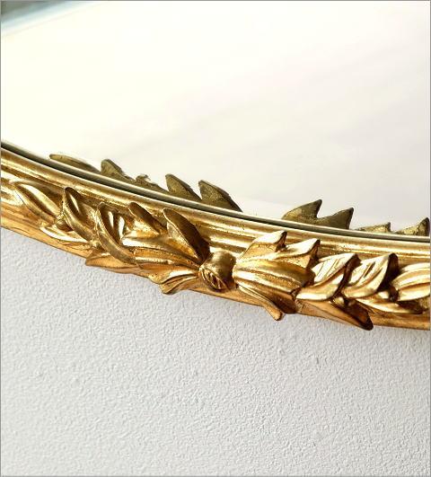 ゴールドリボンのオーバルミラー(3)