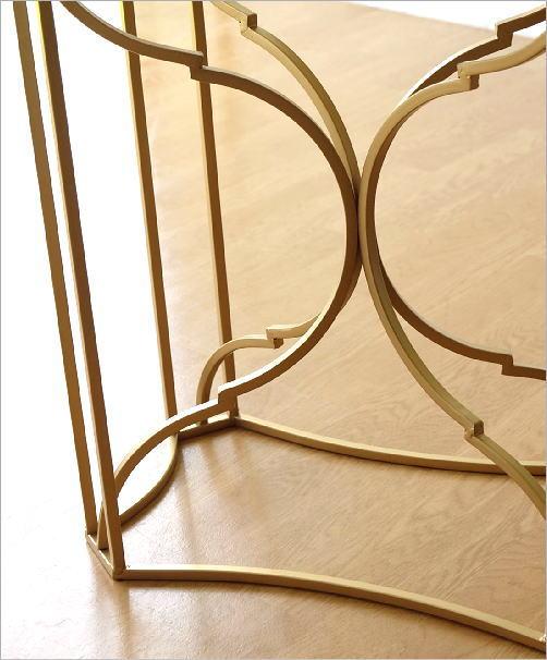 ゴールドアイアンのサイドテーブル(4)