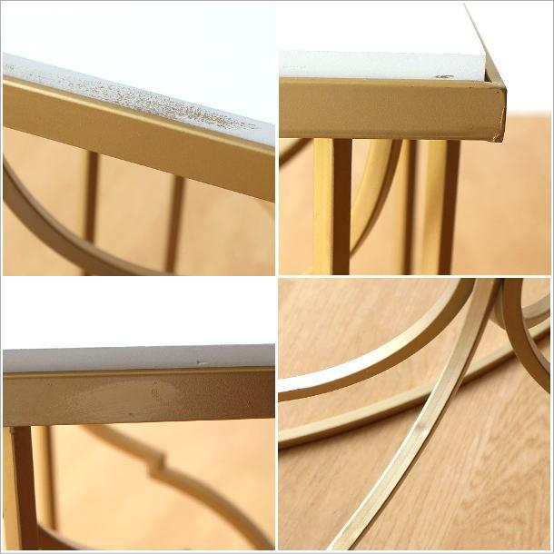 ゴールドアイアンのサイドテーブル(5)