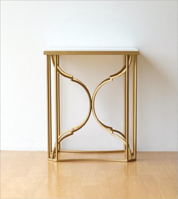ゴールドアイアンのサイドテーブル(6)