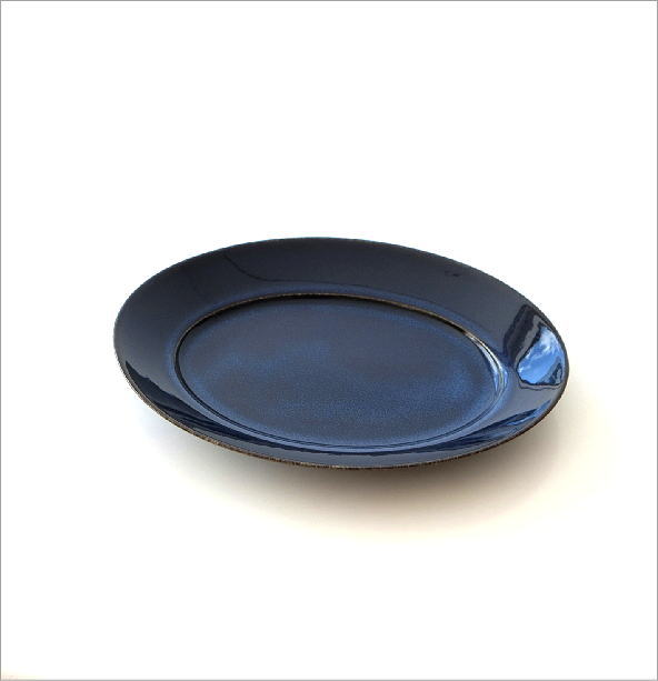 楕円盛り皿 ディープブルー(3)