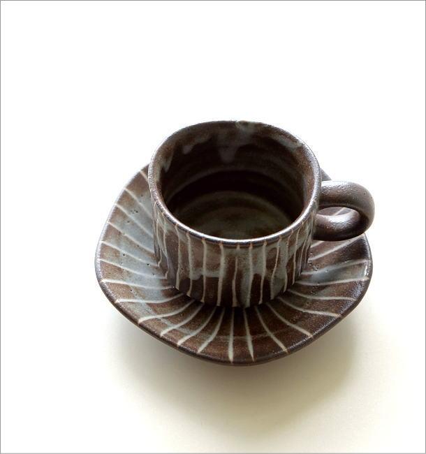 鼠志野珈琲碗皿(1)