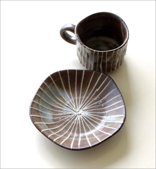 鼠志野珈琲碗皿(4)