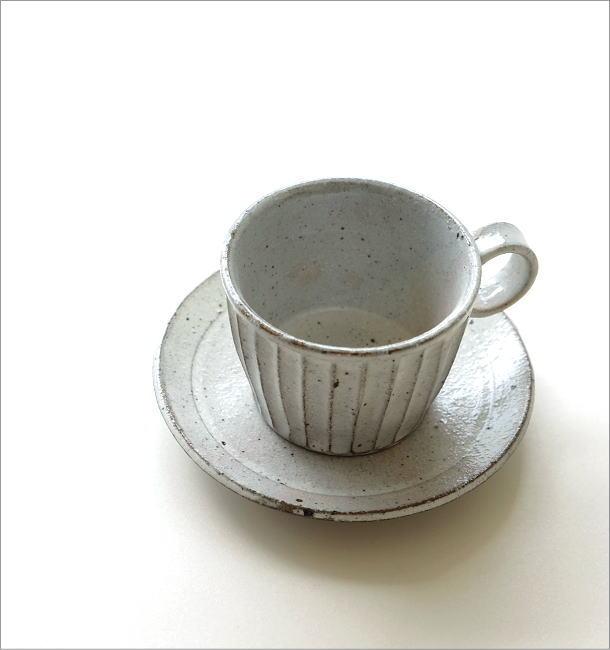 粉引き細削ぎ碗皿(1)