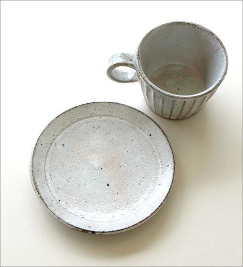 粉引き細削ぎ碗皿(4)