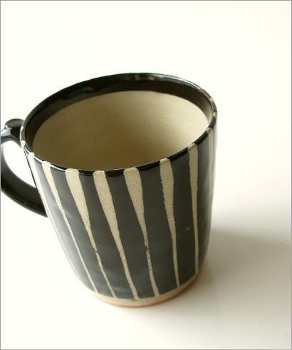 マグカップ 陶器 和モダン 黒十草マグ(1)