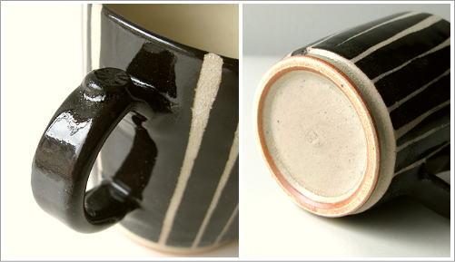 マグカップ 陶器 和モダン 黒十草マグ(3)