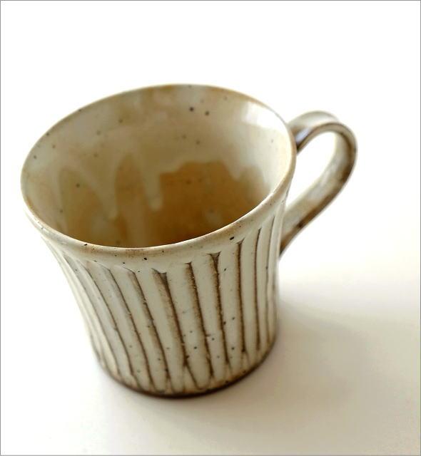 陶器のコーヒーカップ/マグカップ 粉引きマグ(1)