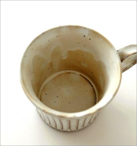 陶器のコーヒーカップ/マグカップ 粉引きマグ(2)