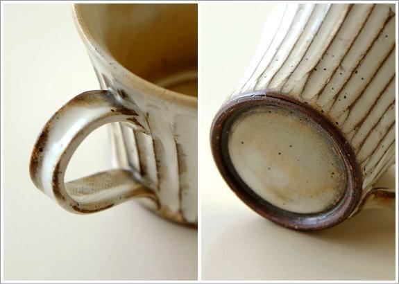 陶器のコーヒーカップ/マグカップ 粉引きマグ(3)