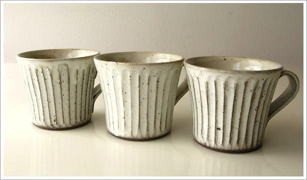 陶器のコーヒーカップ/マグカップ 粉引きマグ(5)