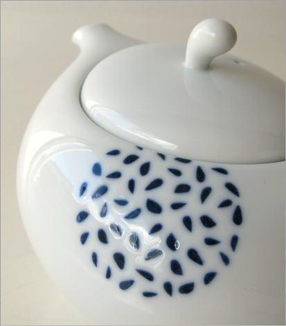 粒丸紋ポット煎茶碗付き