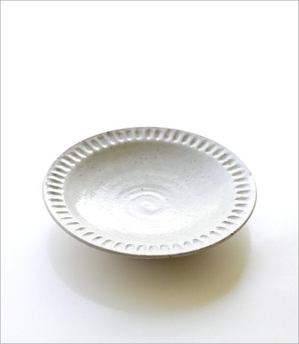 ろくろ粉引 ディナープレート(3)