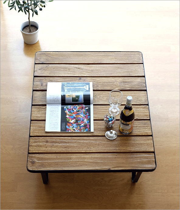 アイアンとウッドのコーヒーテーブル(1)