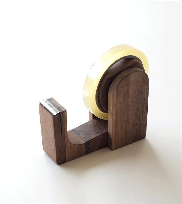 木のテープカッター ウォルナット(1)