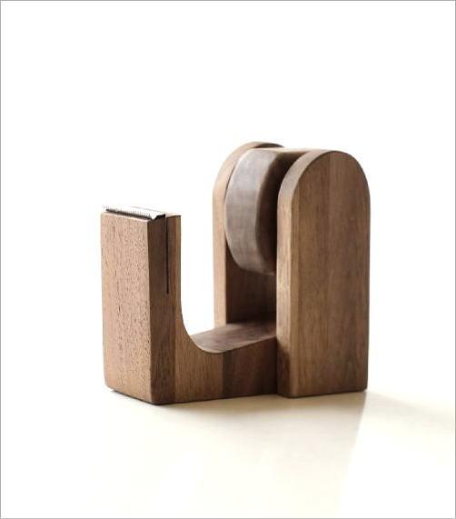 木のテープカッター ウォルナット(4)