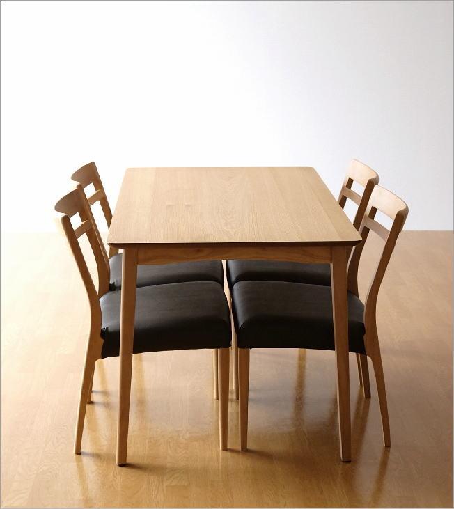 ダイニングテーブル5点セット 天然木(7)