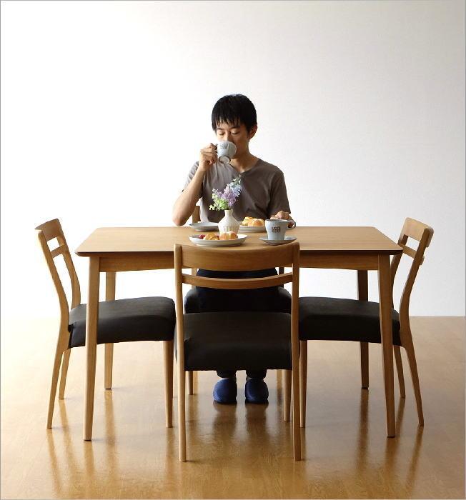 ダイニングテーブル5点セット ナチュラル コンパクト 軽量(8)