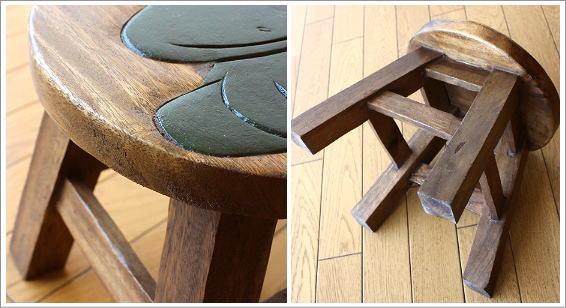 スツール 子供椅子 カエルさん(3)