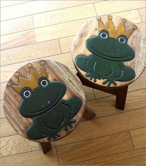 スツール 子供椅子 カエルさん(4)