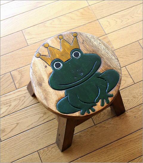 スツール 子供椅子 カエルさん(5)