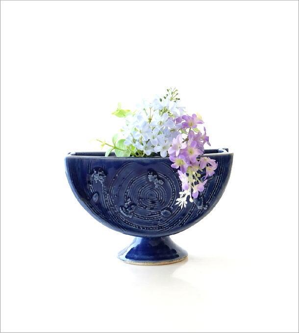 青釉三つ切輪立ち花入れ(5)