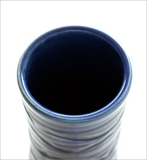 青釉円柱花入れ(2)