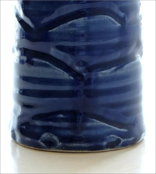 青釉円柱花入れ(3)