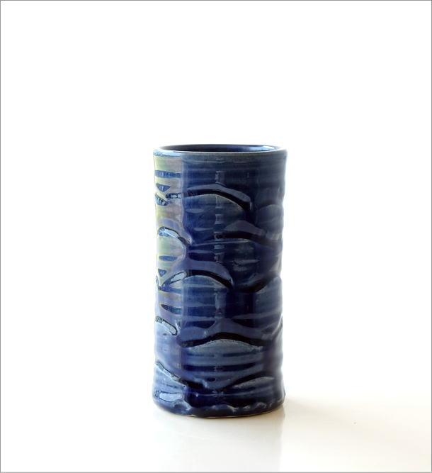 青釉円柱花入れ(5)