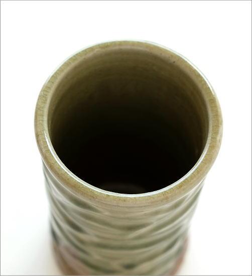 灰釉円柱花入れ(2)