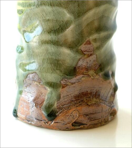 灰釉円柱花入れ(3)