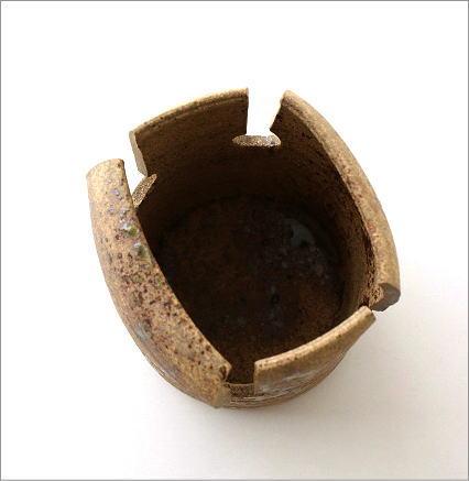 和陶器花入 四方切(3)