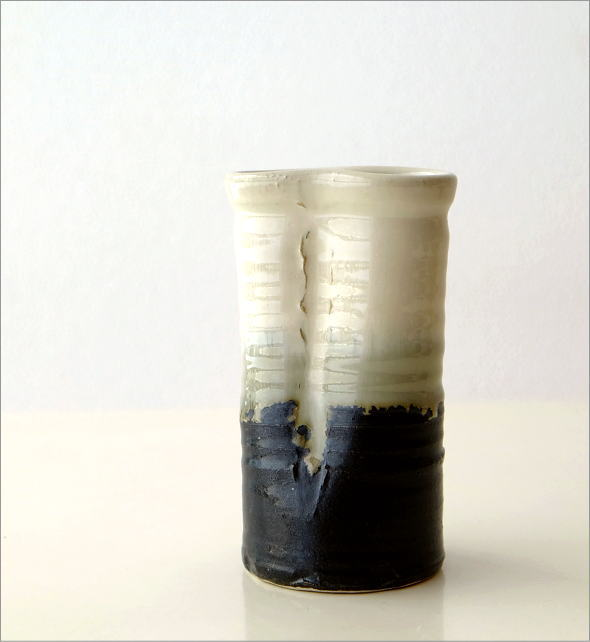 和陶器花入 結晶変形(4)