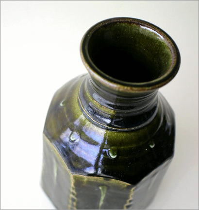 和陶器ベース 織部輪立(2)