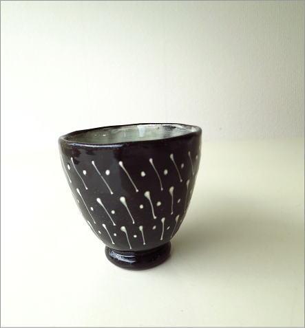 和陶器湯のみ 点線一珍(1)