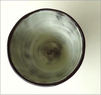 和陶器湯のみ 点線一珍(4)