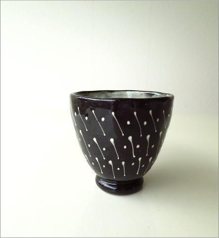 和陶器湯のみ 点線一珍(6)