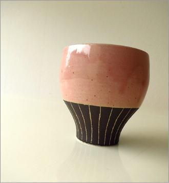 和陶器フリーカップ 桃(3)