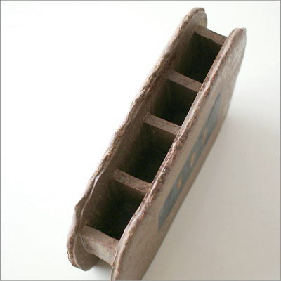 和陶器ベース 焼〆黒紋(2)