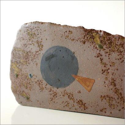 和陶器ベース 焼〆黒紋(3)