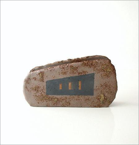 和陶器ベース 焼〆黒紋(4)