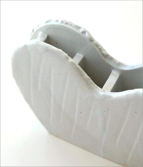 和陶器ベース ホワイトハート(3)