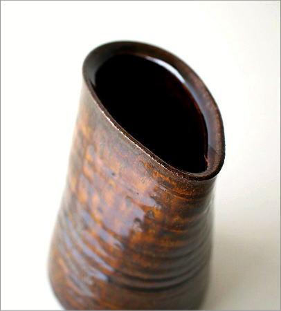 和陶器ベース 古瀬戸唐草(2)
