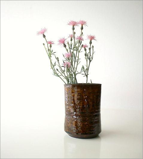 和陶器ベース 古瀬戸唐草(6)