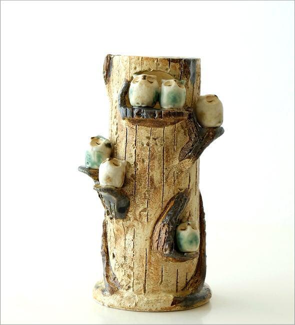 ふくろう家族の花瓶(5)