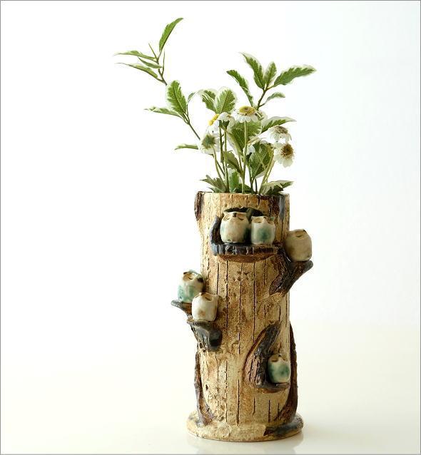 ふくろう家族の花瓶(6)