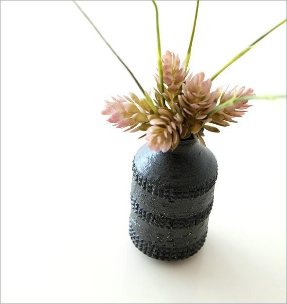 黒土 筒型 花入れ(1)