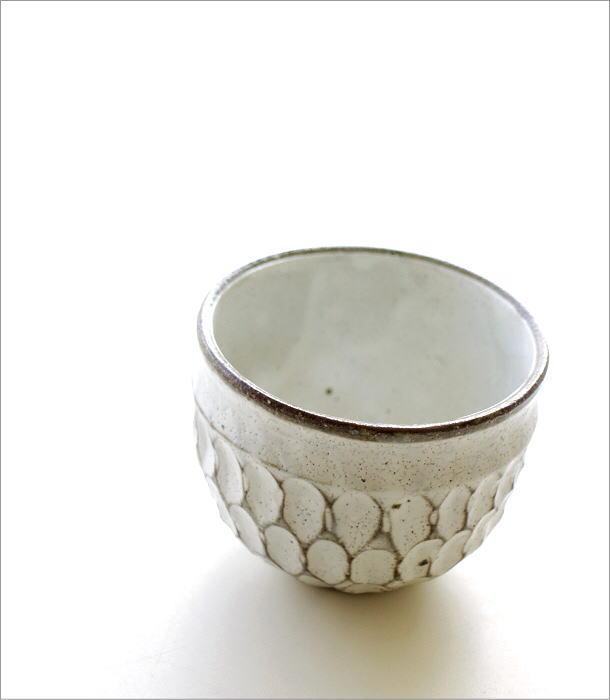 粉引重彫 湯呑(1)