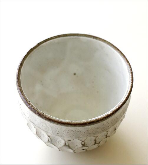 粉引重彫 湯呑(3)